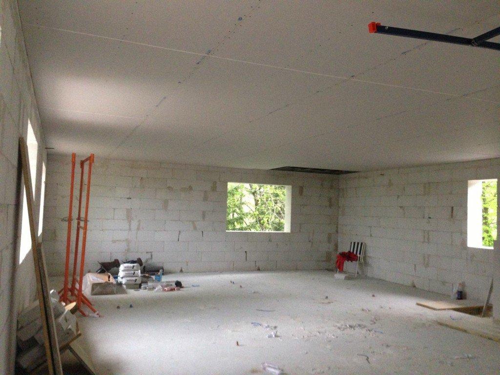 Le faux plafond double ba13 l tage est quasi termin for Double faux plafond